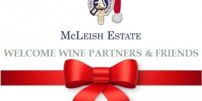 Welcome Wine Partners and Friends to our Festive season Newsletter -