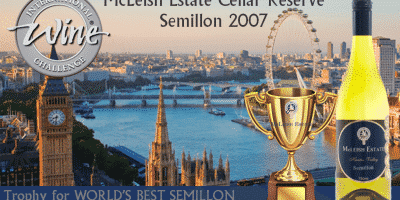 McLeish Estate Wines Awarded World's Best Semillon by International Wine Challenge -