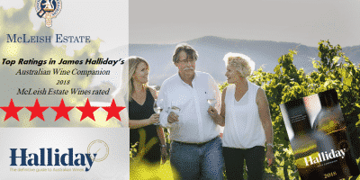 2018 Halliday Wine Companion - Red Five Star Winery Rating. -