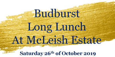 Budburst Long Lunch - Saturday 26th of October -