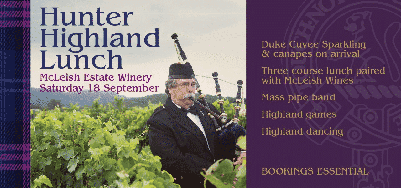 Hunter Highland Lunch - Saturday 18th of September 2021 -